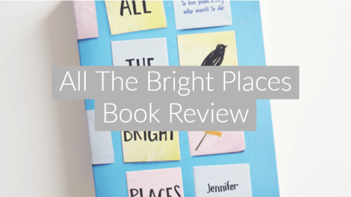 flatlay image of all the bright places book on white background