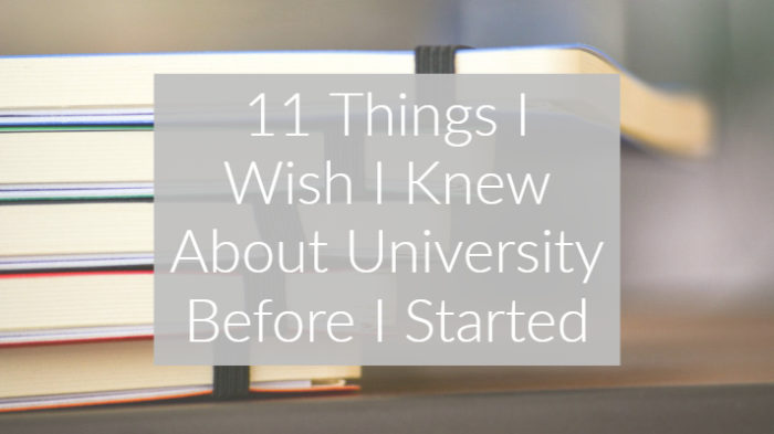 11 Things I wish I knew about University before I started graphic