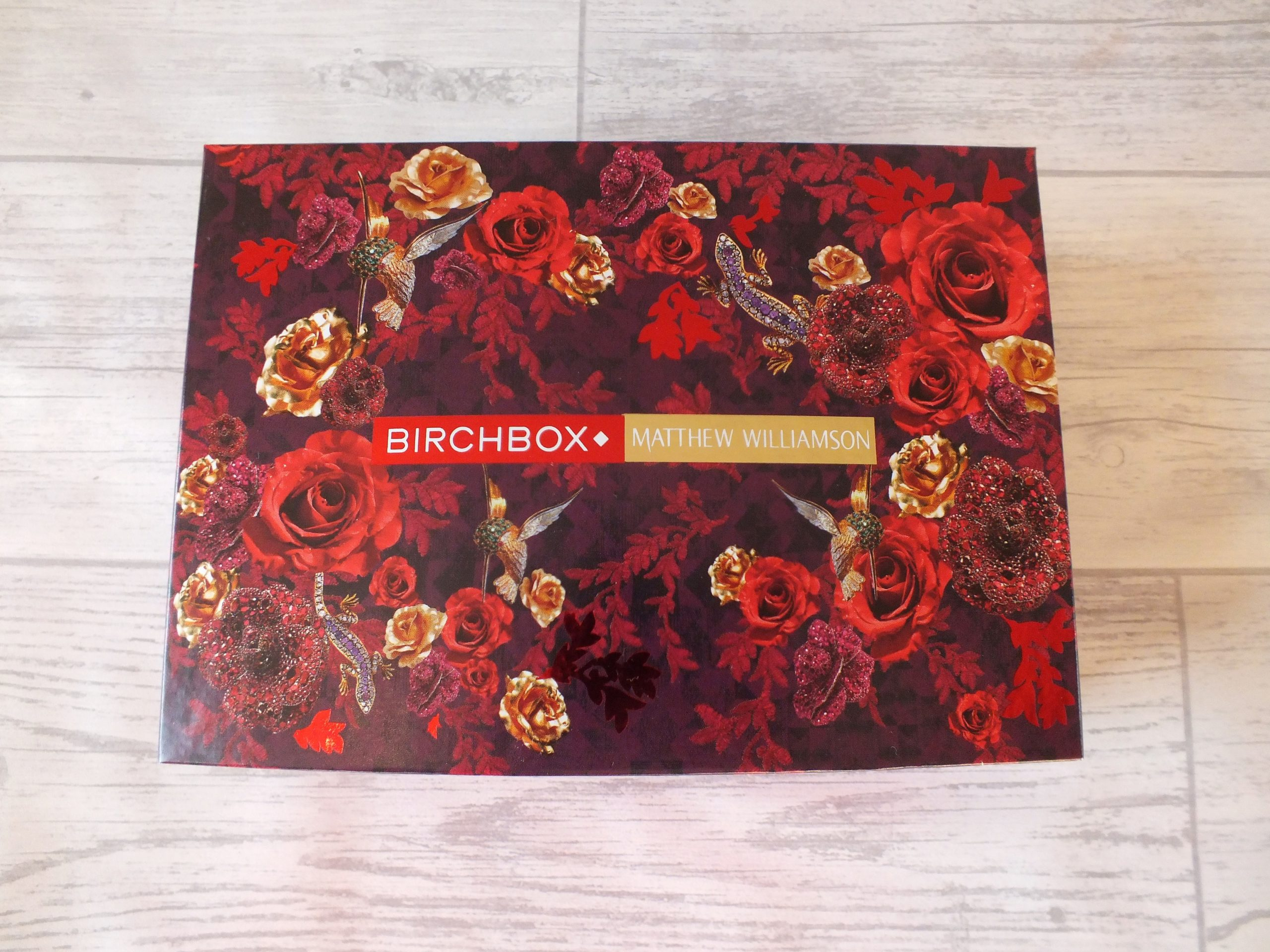 Birchbox December Rewview Matthew Williamson Collaboration Box Image