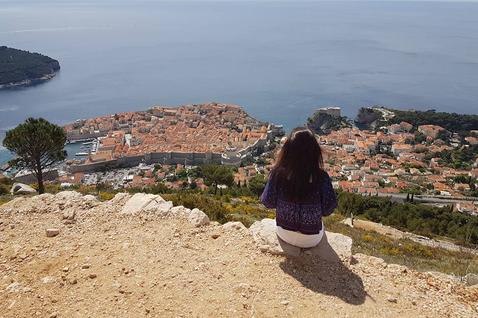 Candid Photo of Abi Howard Overlooking Dubrovnik