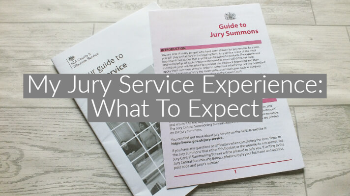 Jury Service leaflets on a grey wooden background
