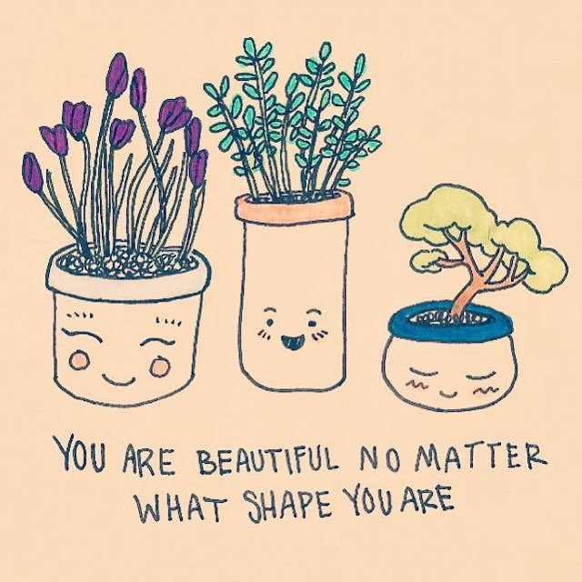 Body Positivity Plant Quote