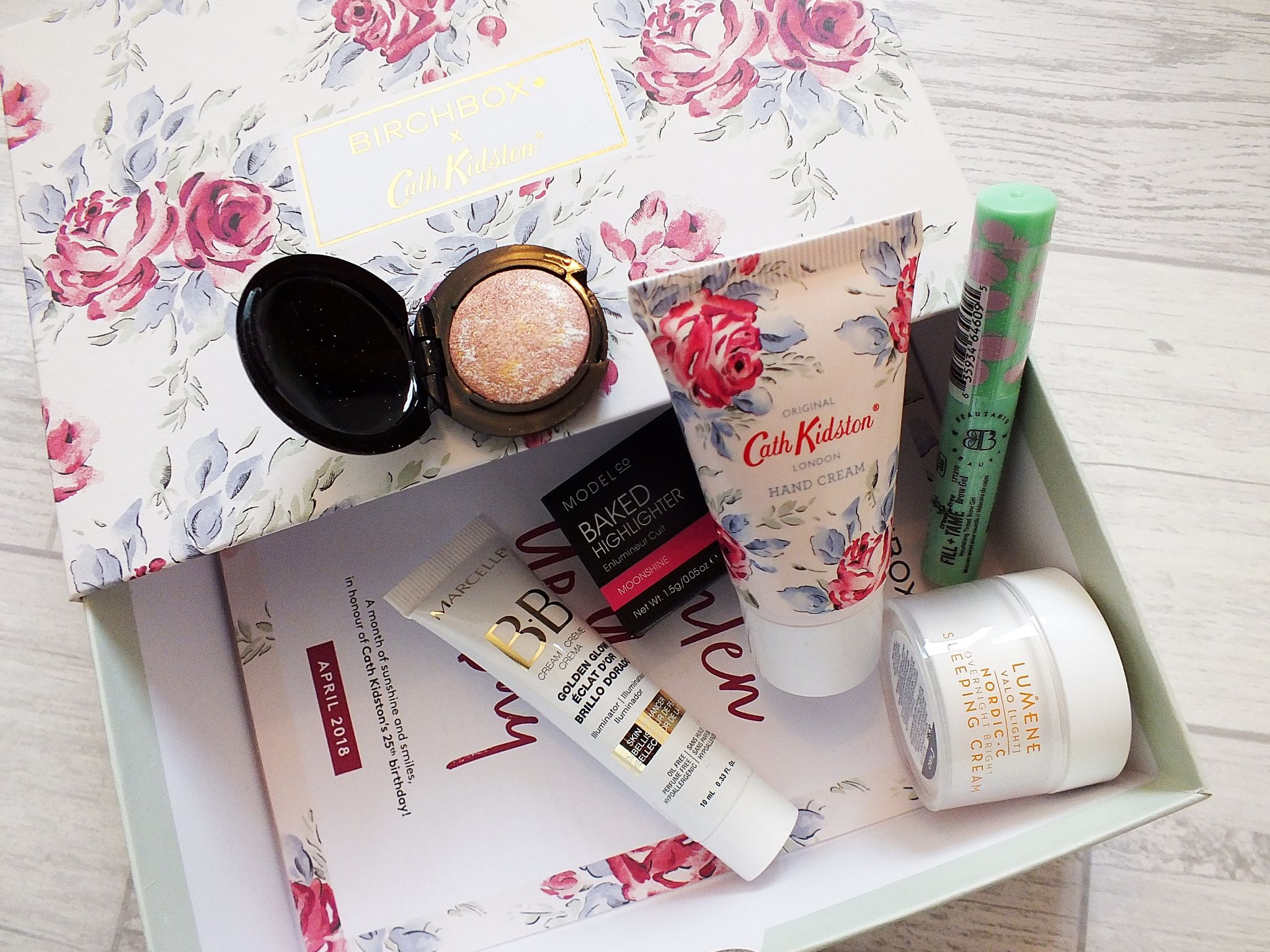 April Birchbox UK Contents Flatlay