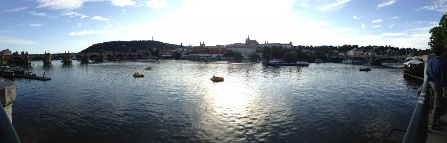 Prague Scenic River Panoramic Photo