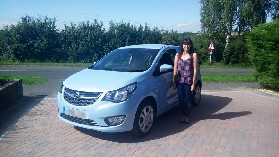 Myself with my new Vauxhall Viva baby blue