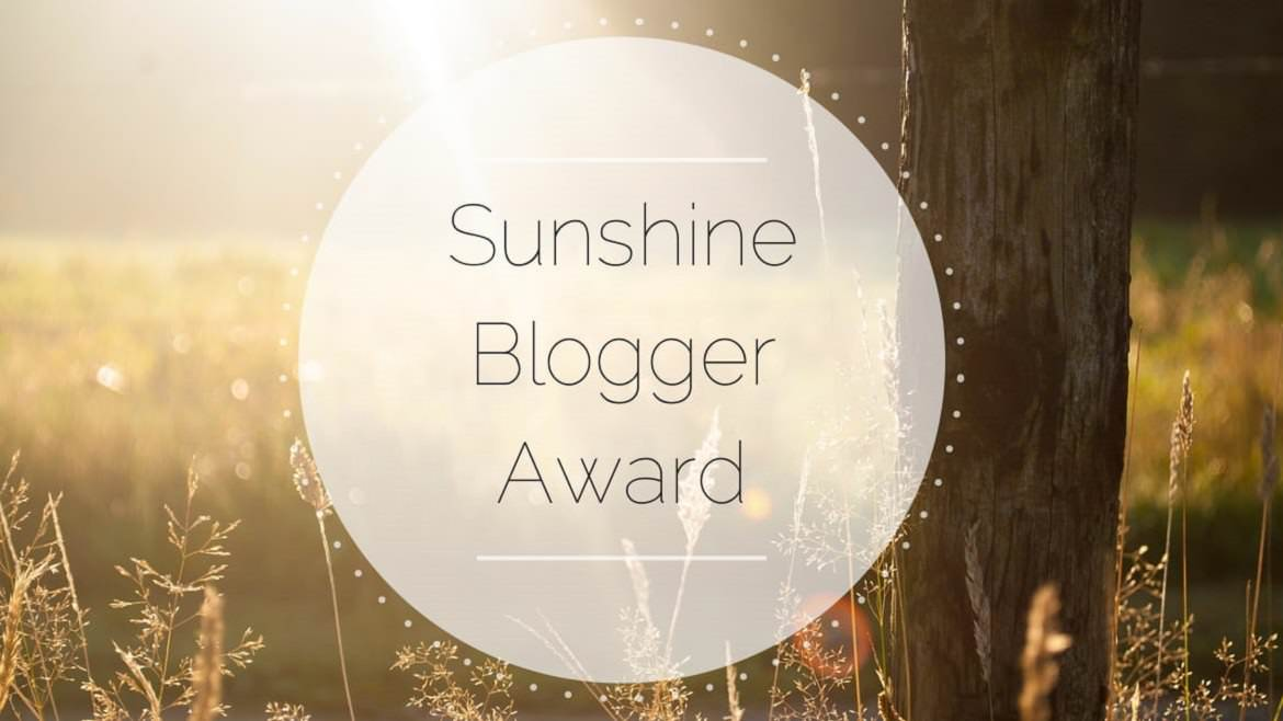 The Sunshine Blogger Award graphic