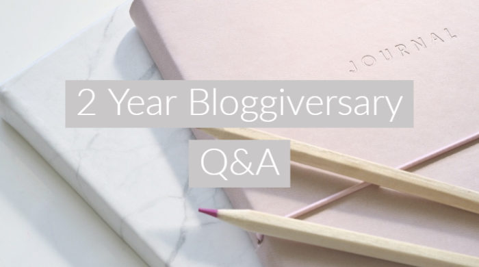 2 Year Bloggiversay Q&A