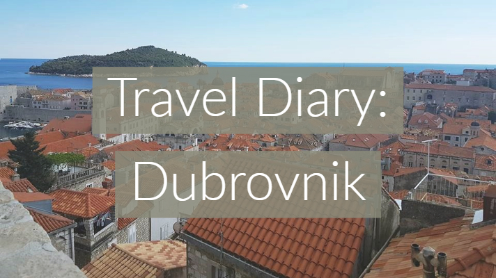 Travel Diary Dubrovnik Graphic