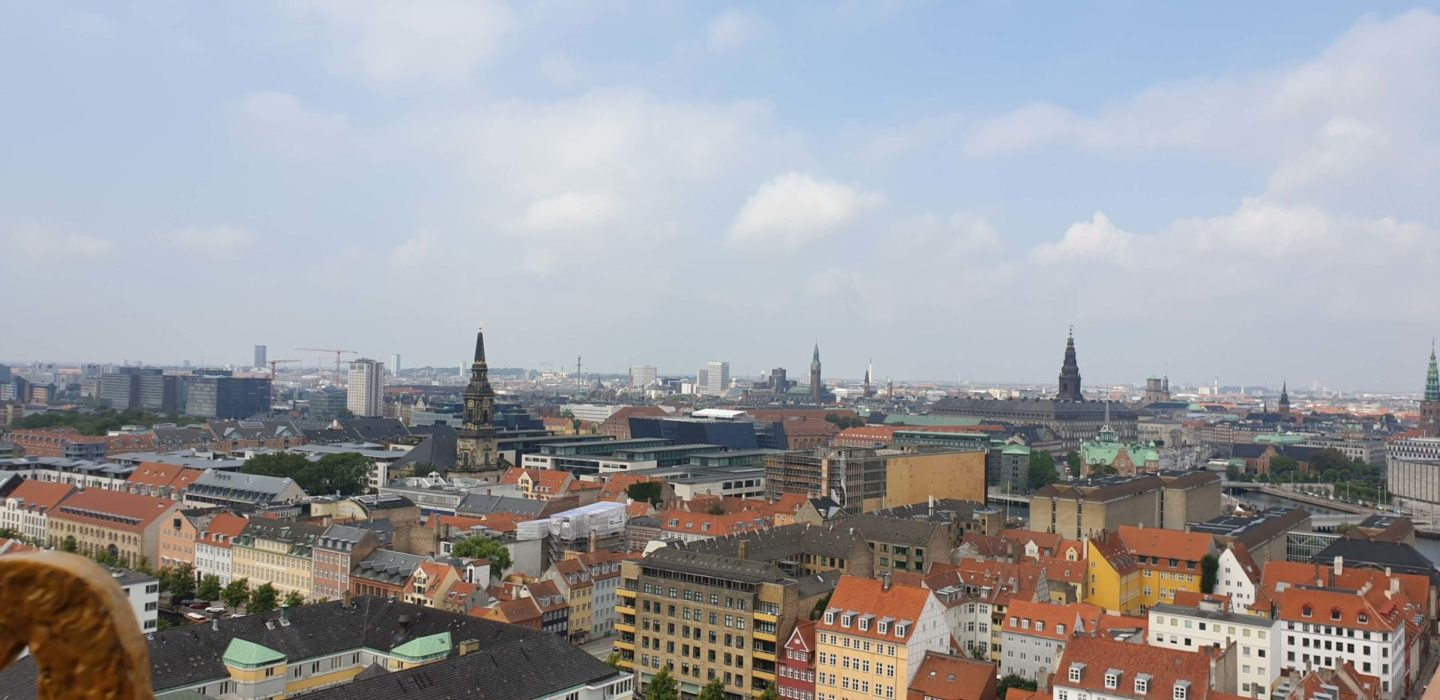 View overlooking Copenhagen from the top of the Church of Our Saviour