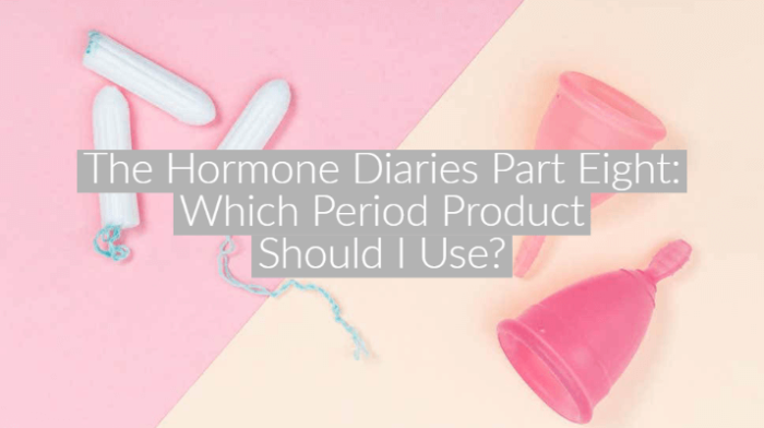 flatlay image of tampons and menstrual cups on pink background