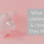 Pink ceramic piggy bank stood on pink background with text overlay What Is A Lifetime ISA & How Do They Work?